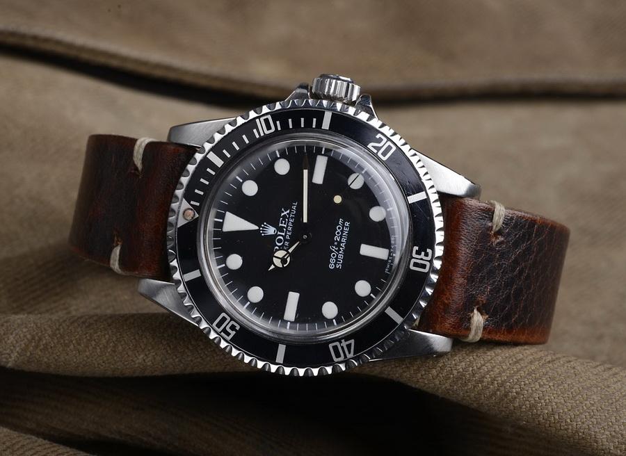 Кожаные часовые ремешки ручной работы для Rolex Submariner