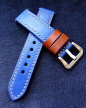 Заказать часовой ремешок handmade синего цвета