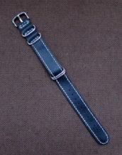 Кожаный часовой ремешок ZULU ручной работы