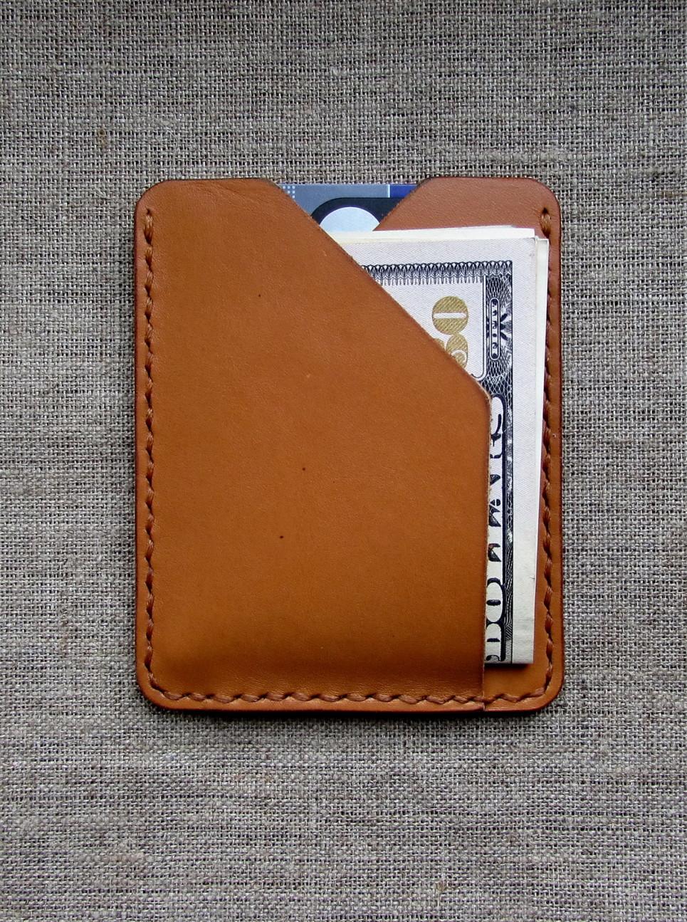 Компактный кошелёк ручной работы