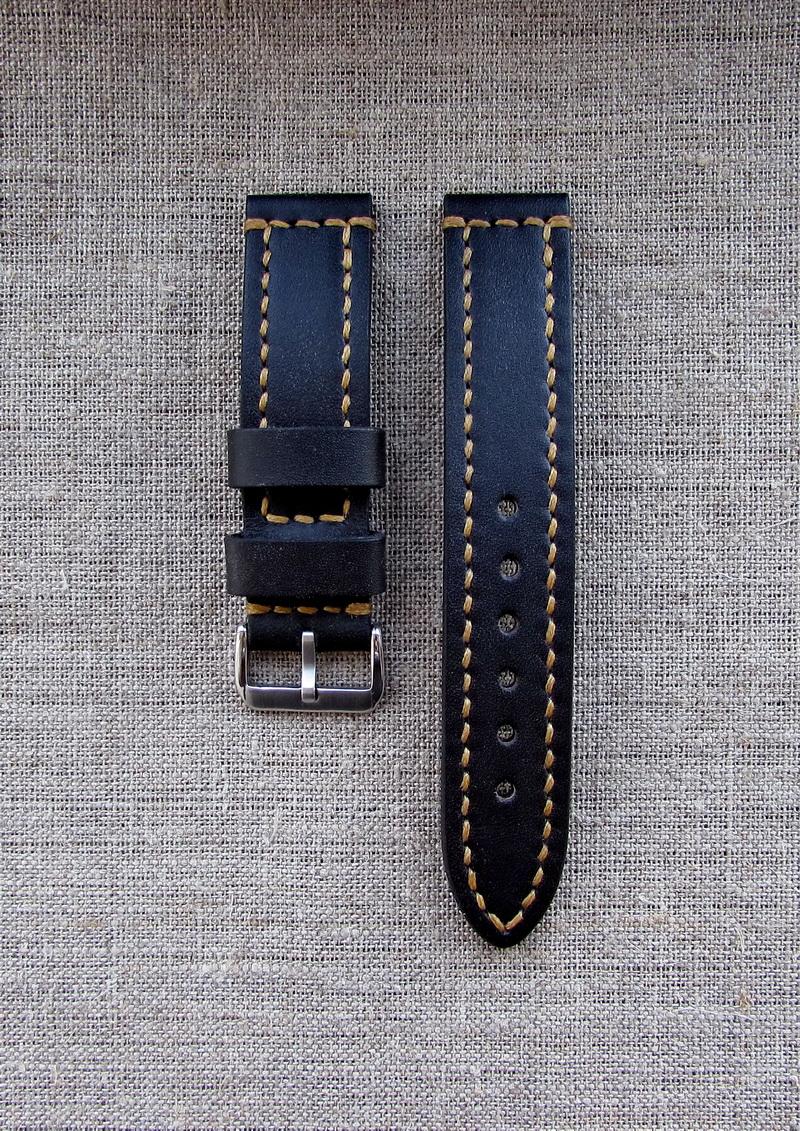 Купить тёмно-коричневый часовой ремешок ручной работы