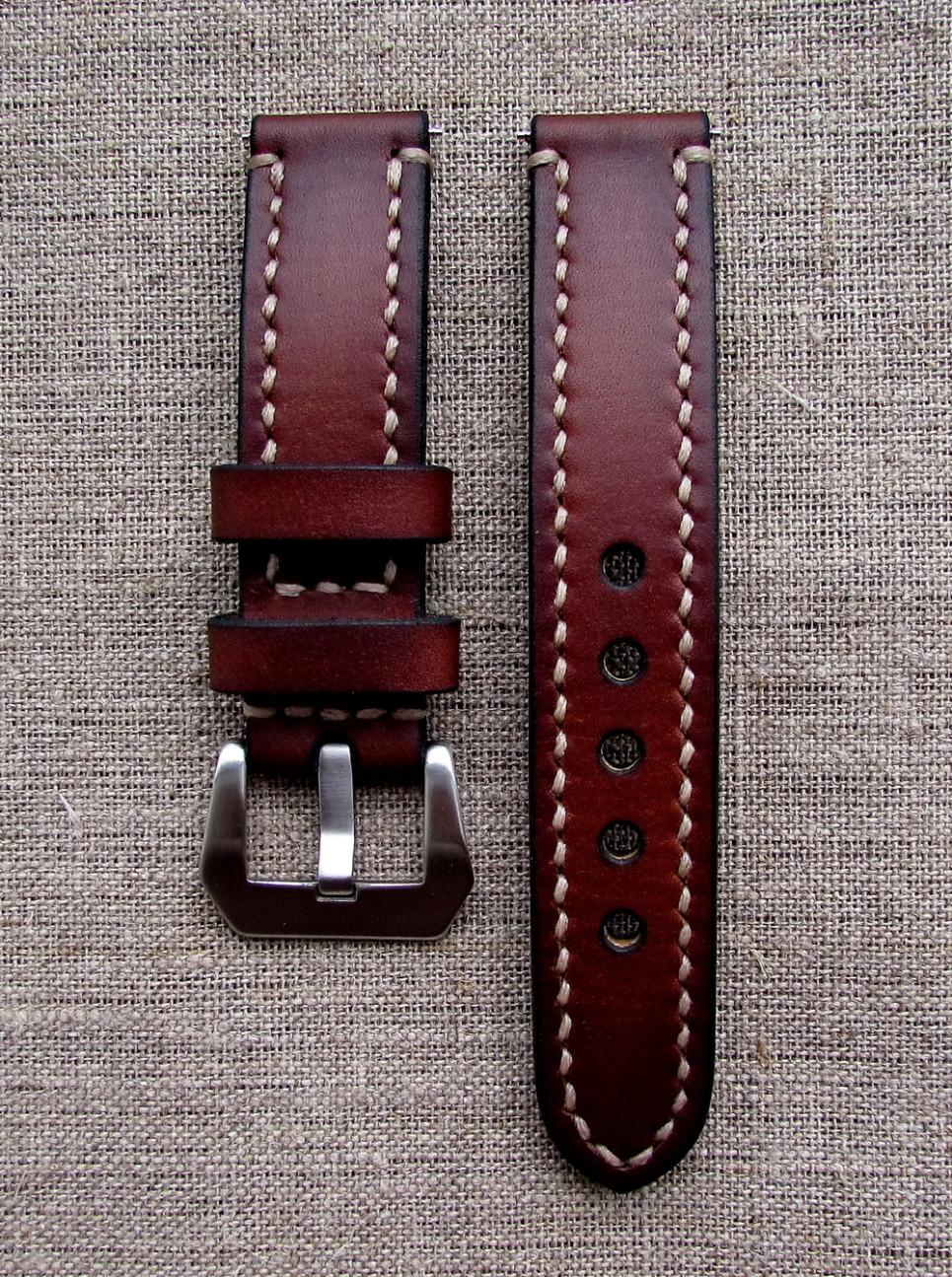 Часовой ремешок Handmade из кожи