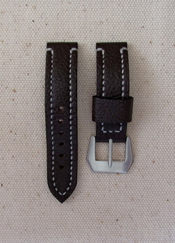 Тёмно-коричневый часовой ремешок ручной работы