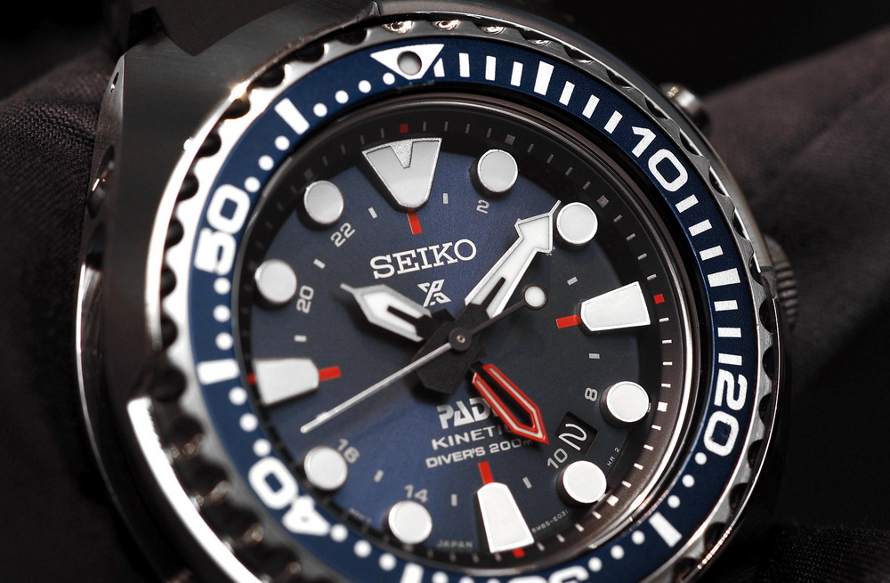 Часы Seiko Kinetic GMT Diver's SUN065