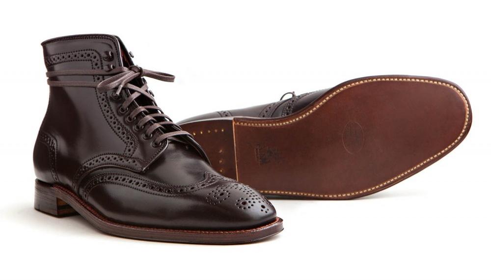 Обувь из кожи Shell Cordovan