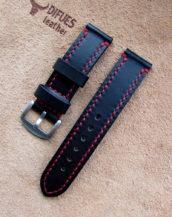 Тёмно-коричневый ремешок для часов ручной работы