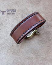 Кожаный браслет handmade