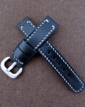 Ремешок для часов чёрного цвета 20 мм.