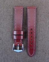Коричневый ремешок для часов из кожи