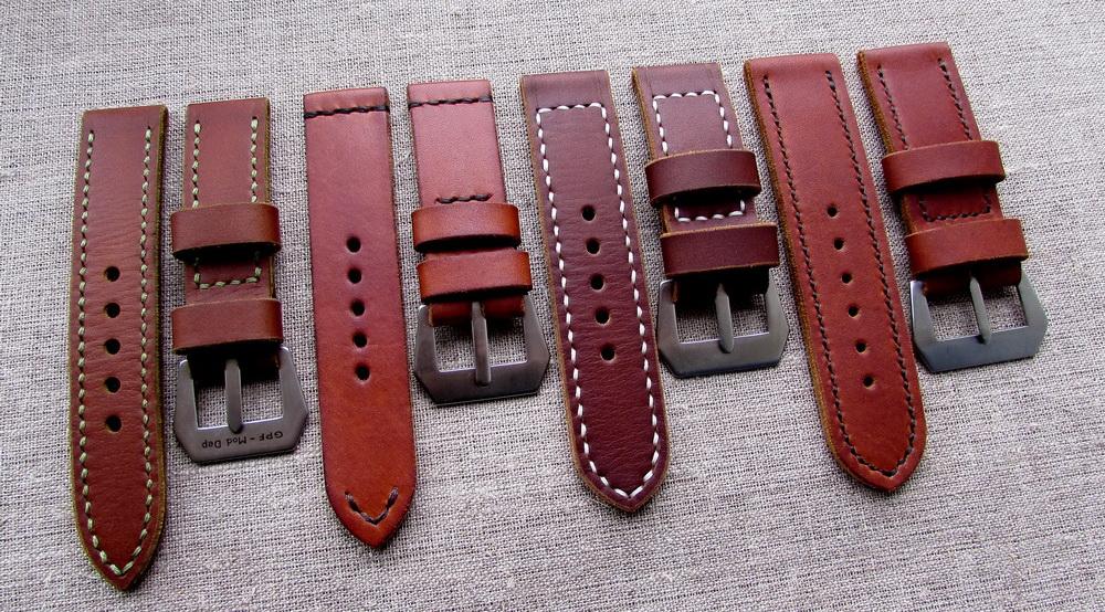 Кожаные ремешки ручной работы для часов Panerai
