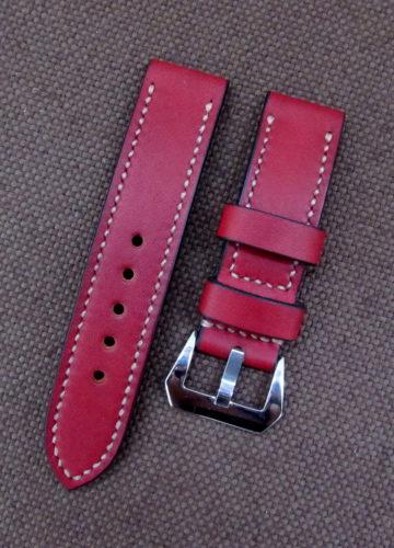 Красный ремешок для часов из натуральной кожи
