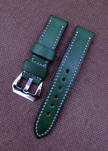 Купить зелёный ремешок для часов ручной работы