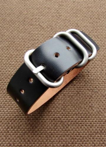 Часовой ремешок ZULU из кожи Shell Cordovan