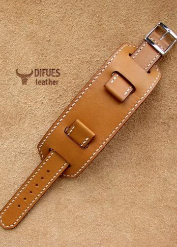 Купить ремешок для часов BUND в стиле Hermes, ручная работа Difues Leather. Ремешок выполнен из качественной натуральной кожи. Ширина: 18, 20, 22, мм.