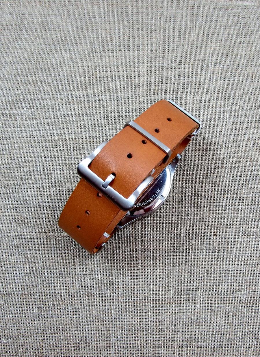 Купить кожаный ремешок для часов «НАТО»