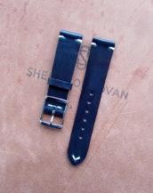 Ремешок для часов из кожи Shell Cordovan синего цвета