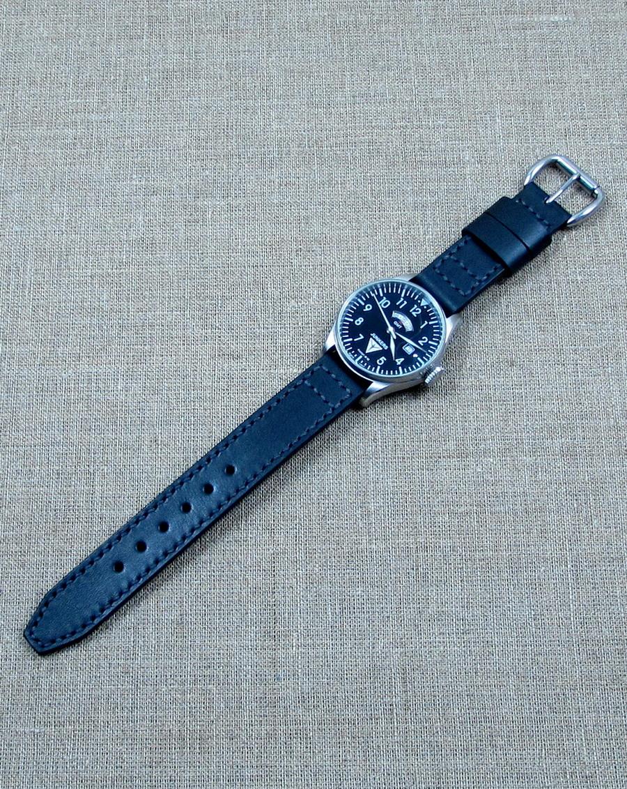 Часовой ремешок уникального дизайна в стиле часов-пилотов