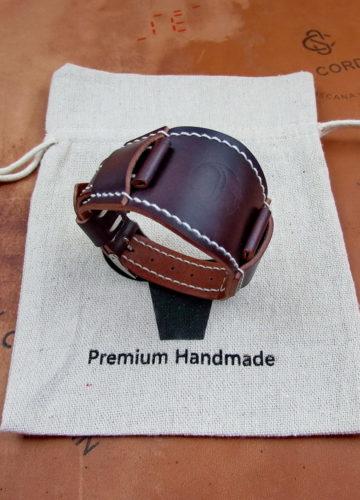 Часовой ремешок с подложкой (БУНД) ручной работы
