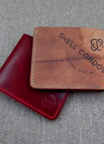 Кошелёк из Shell Cordovan ручной работы