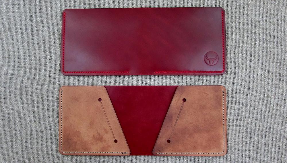 Компактный бумажник ручной работы из кожи Кордован