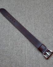 Серый ремешок из кожи Cordovan