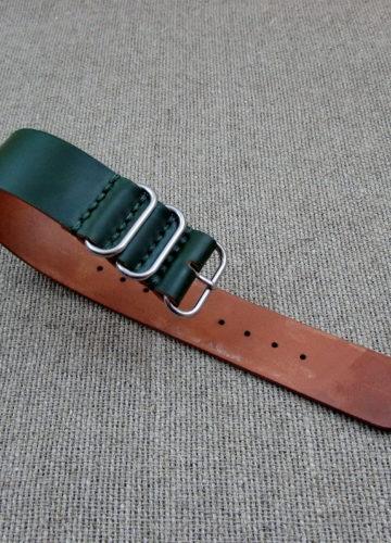 Зелёный ZULU из Шелл Кордован, ширина 24 мм.
