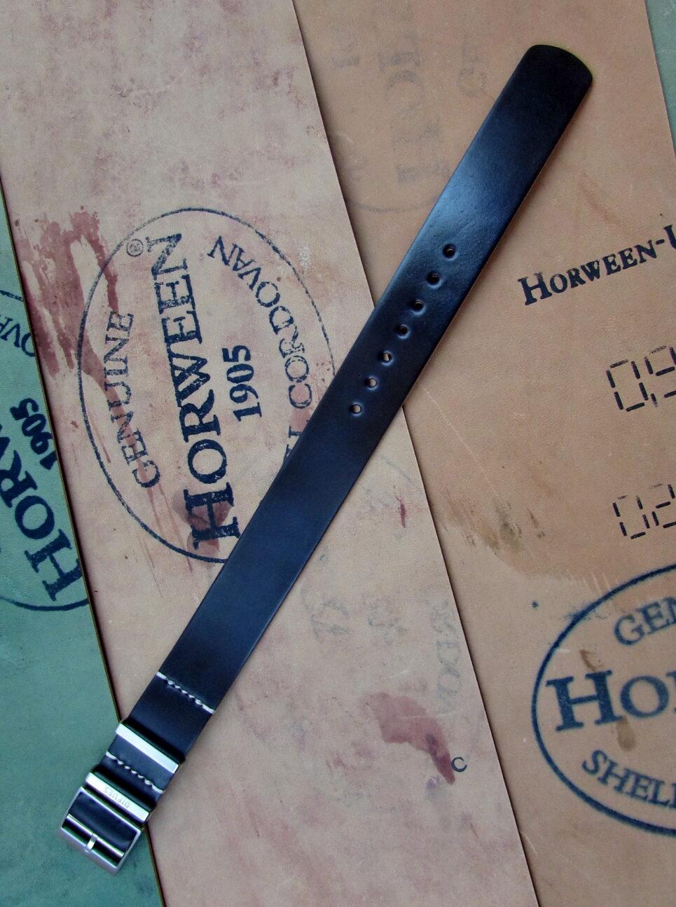 Ремешок из Horween Shell Cordovan