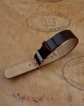 Часовой ремешок из кожи Кордован, ширина 20 мм.